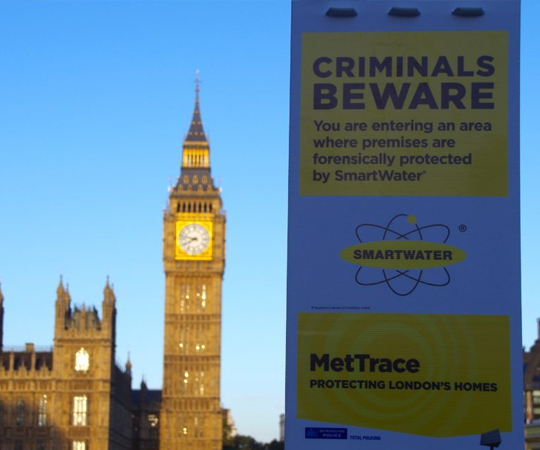 London police are using SmartWater to protect 440,000 homes from burglars.