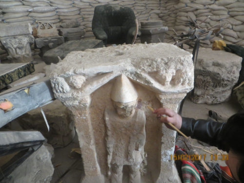 Syria: SmartWater being applied to historic stone ware